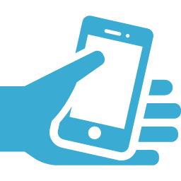 Smartphone with hand mark free icon